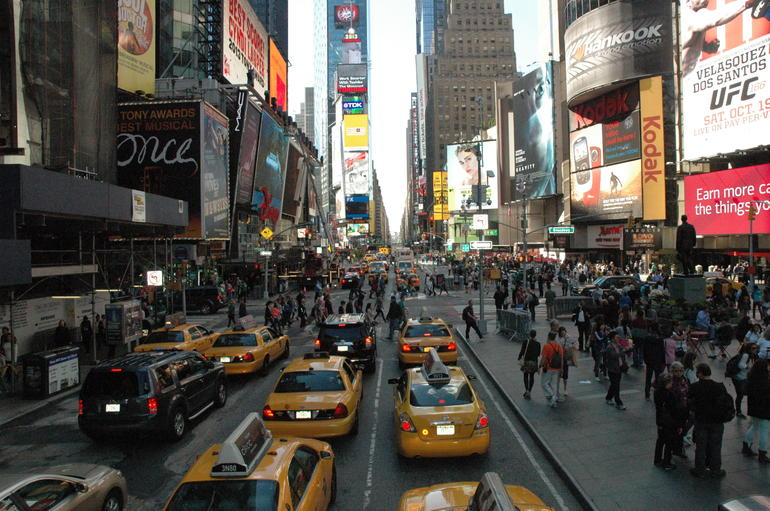 Sur Times Square depuis le bus - New York City