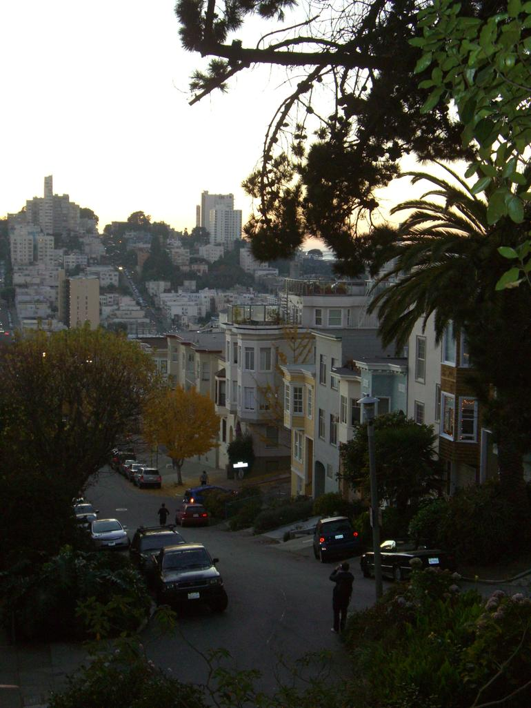 Taking pics of view from Telegraph Hill - San Francisco