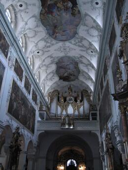 The oldest church in Salzburg (there are many) this one seemed to us the most beautiful and ornate., Brian H - May 2009