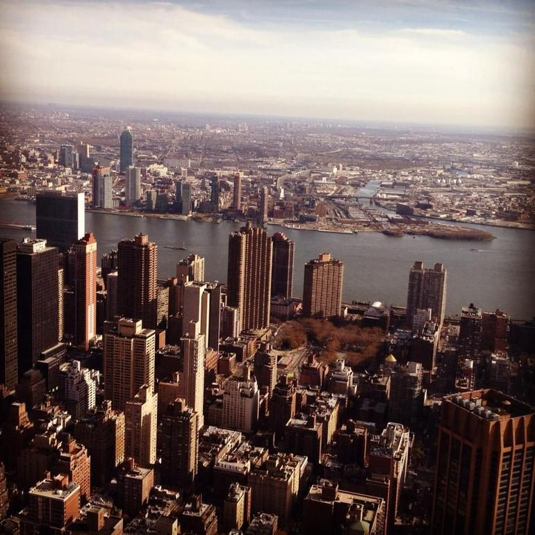 View from helicoprter above Manhattan - New York City