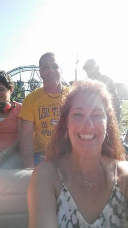 My husband and I enjoying the swamp air boat tour! , Theresa - January 2017