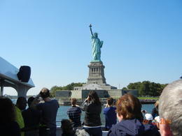 On the boat near the Statue of Liberty. They circle in the water so that everyone is able to get a great view! , SUSAN M - September 2014