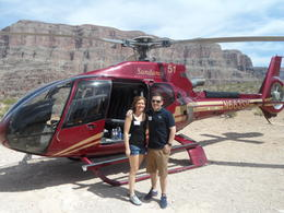 My wife and I at the picnic site on the grand canyon tour, was AMAZING!! , Stuart G - April 2013