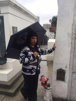 At Marie Laveau Grave , Victoria C - January 2016