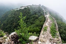 Foggy weather at the Great Wall. , Chanindh - August 2015