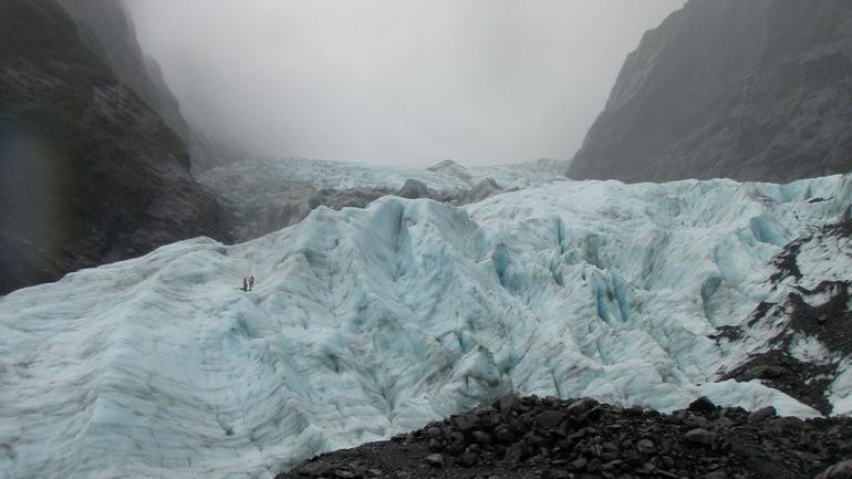 Guides preparing the track - Franz Josef & Fox Glacier