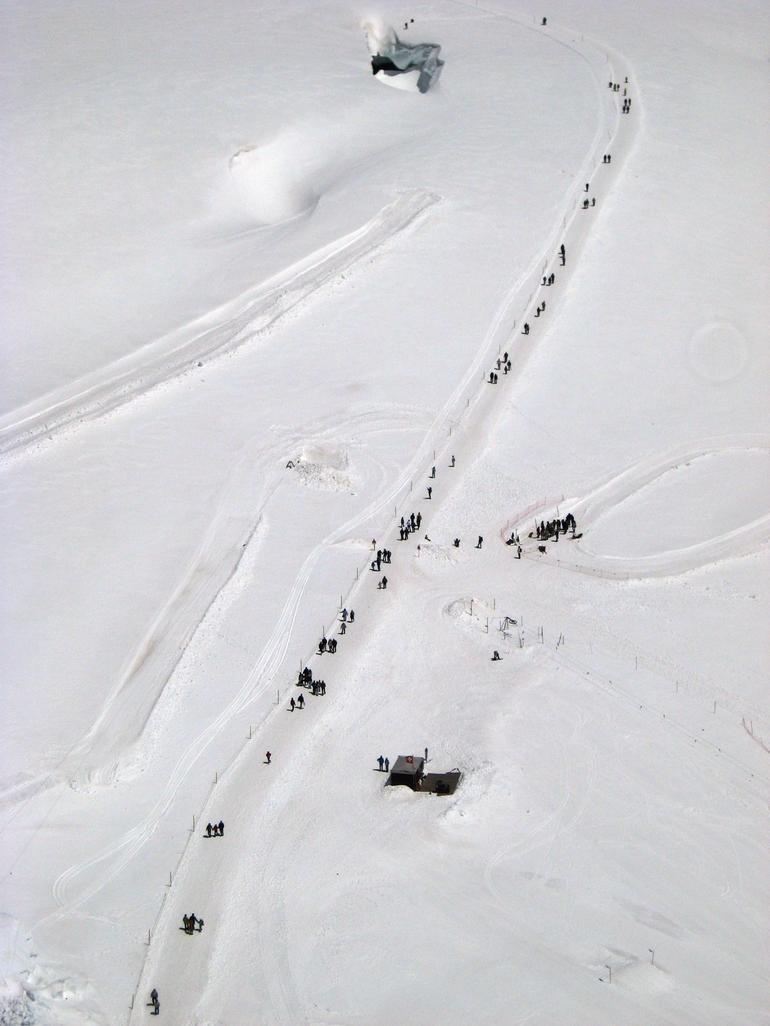 Hikers Walking Towards the Husky Ride - Zurich