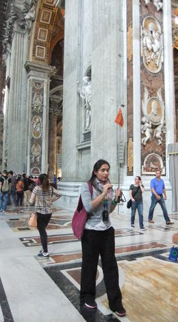 Our tour guide Anjelica working hard and giving us a great experience touring the Vatican museums, Sistine chapel and basilica. , laurelpanchuk - November 2014