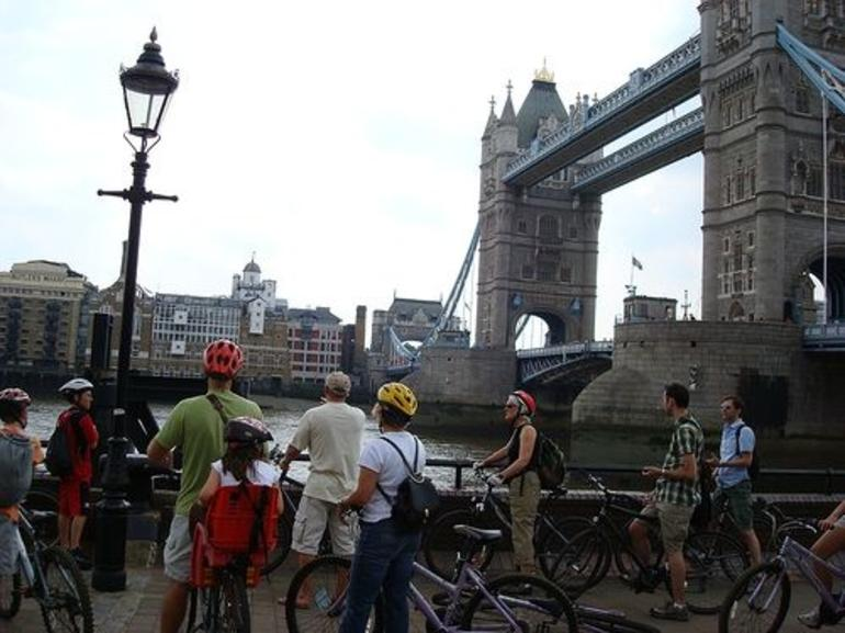London Tower Bridge on the East London Bicycle Tour - London
