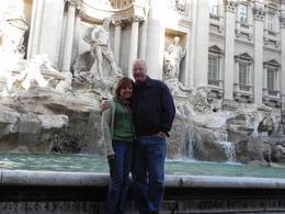In front of the beautiful Trevi Fountain., Debra V - November 2010