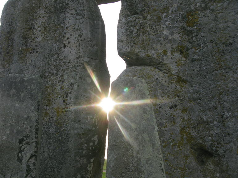 The sun kept doing that through the stones -- no filter required. - London