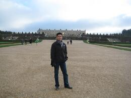 Me at Versailles after finishing the tour inside., JEDADIAH J - December 2010
