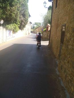 zipping through the villages around the Chianti region , Natalie - August 2012