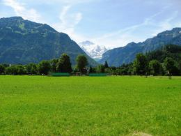 A view of the Jungfrau ranges from Interlaken City, Balaji B - June 2009