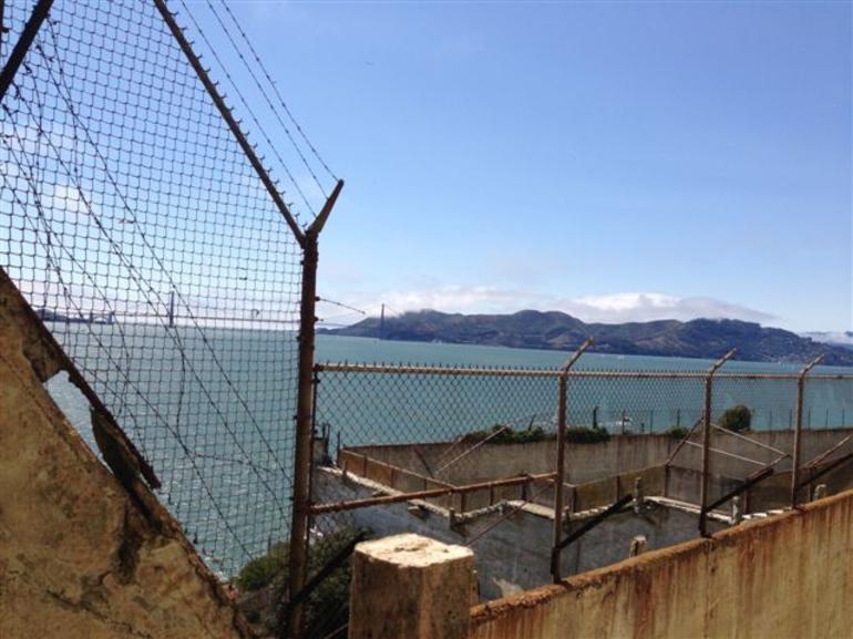 Alcatraz - looking back at San Francisco - San Francisco