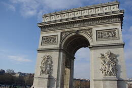 The Arc de Triomphe from the bus! , Tania P - December 2010
