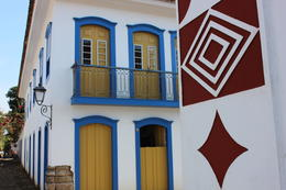 Typical architectural and art in Paraty, Bandit - July 2014
