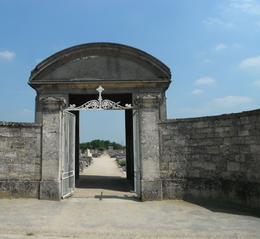Entrance to the cemetery at Auvers sur Oise, Vincent van Gogh's final rest. , Susan U - August 2012