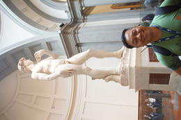 No visit to the Accademia Gallery without having a picture taken with the famous David , Raymond G - October 2014
