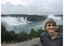 SK in front of Falls , Sandy K - August 2016