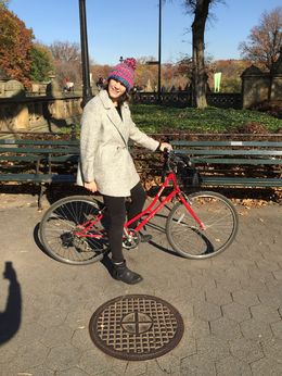 Iron Girl Emma with her new wheels , Amanda T - December 2015