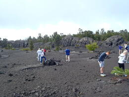Walking on a dried lava flow was an amazing experience! , Andrea S - January 2013