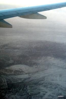 Island sett fra flyet. , Jostein S - January 2014