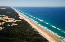 Fraser Island coastline - May 2011