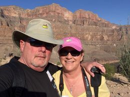 Larry and Carol S. trying to take in the vast beauty of the Canyon.... , James L S - April 2015