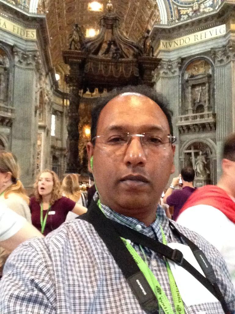 Inside St. Peter's Basilica. - Rome