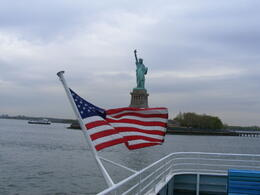 An iconic view of the Statue of Liberty , Dusty - April 2012