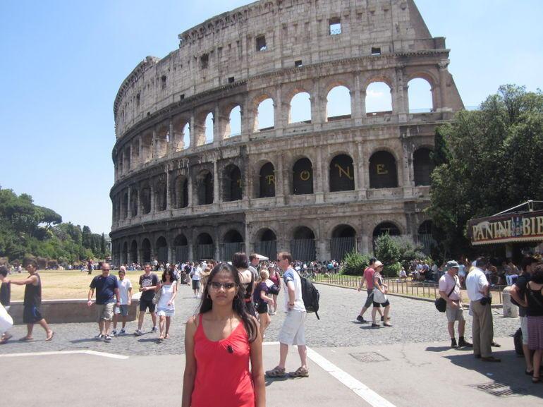Outside Colosseum - Rome