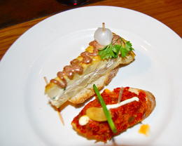 One of the plates of Tapas that we were able to choose while at our first Tapas bar on the tour. , Alan P - March 2011