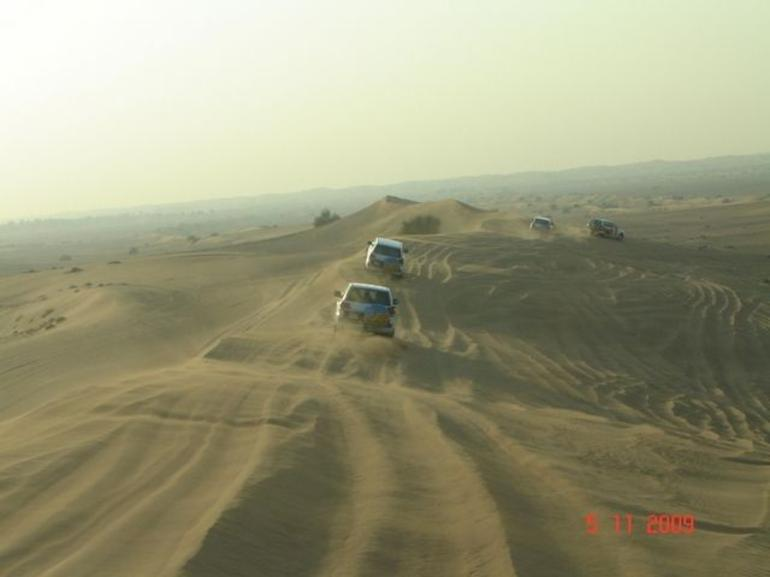 Travelling by 4WD across the deserts - Dubai