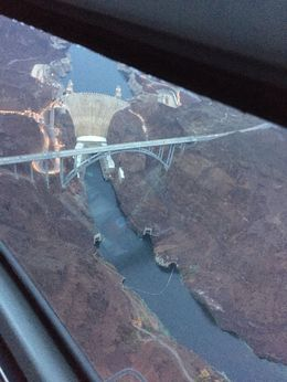Aerial shot of the Hoover Dam. - October 2015
