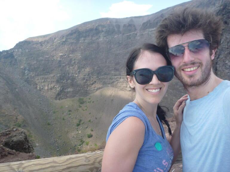 At the top of Mt Vesuvius - Rome