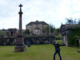 The back of Canongate Kirk in the cemetery. , Amy - August 2013