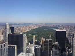 Looking over Central Park from top of the rock. On a clear day, this spot has the best views of the city. This was September- a great time to visit not because it's not too crowded and cool enough ... , Patricia C - October 2009