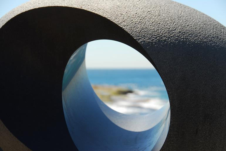 Cool shape with Ocean in the background -