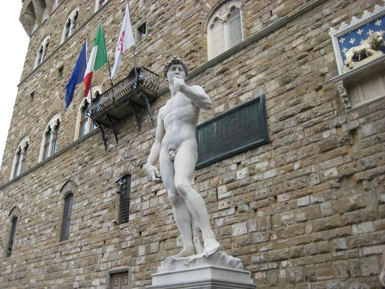 Copy of Michelangelo's David outside the Plazzo Vecchio - Florence