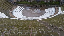 one of the buried theatre in Pompeii , kah t - January 2016