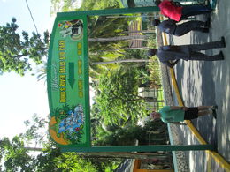 My husband at the entrance of Dunn's River Falls.. , islandflower73 - November 2015