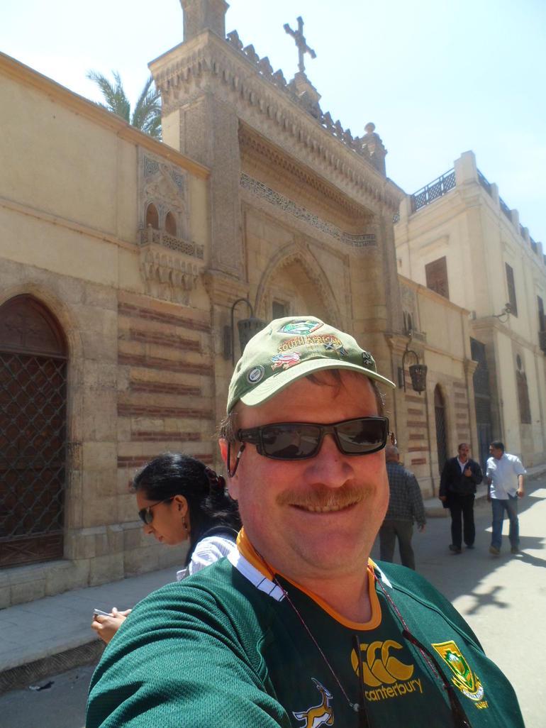 Eric in Coptic Cairo - Cairo