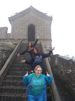 The three of us were so excited that we were at one of the most historic places in the world and didn't care that it was overcast and misty! , nicole_barnard - October 2014
