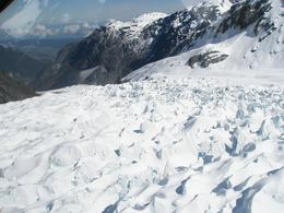 The rugged ice landscape of a glacier at close proximity. - October 2008