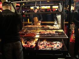 Bratwurst roasting on an open fire - November 2012