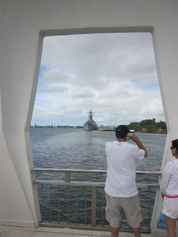 View of USS Missiour from the USS Arizona Memorial , Thurman - August 2012
