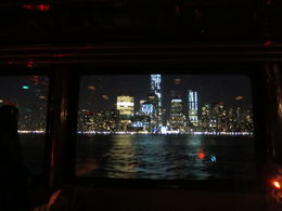 NYC Skyline at night from inside the boat, Patricia P - July 2015