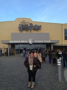 Infront of the Harry Potter Studio Museum, London UK , Maria Cecilia M - December 2013