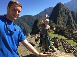 My sister and I at one of the first vista points of Machu Picchu taken by our guide for the day , Ludmila M - September 2016